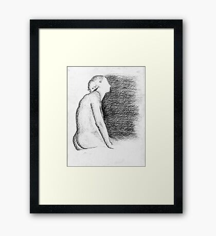She Waits And Watches  Framed Print