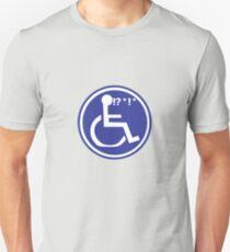 DISABLED WHEELCHAIR BAD LUCK Unisex T-Shirt