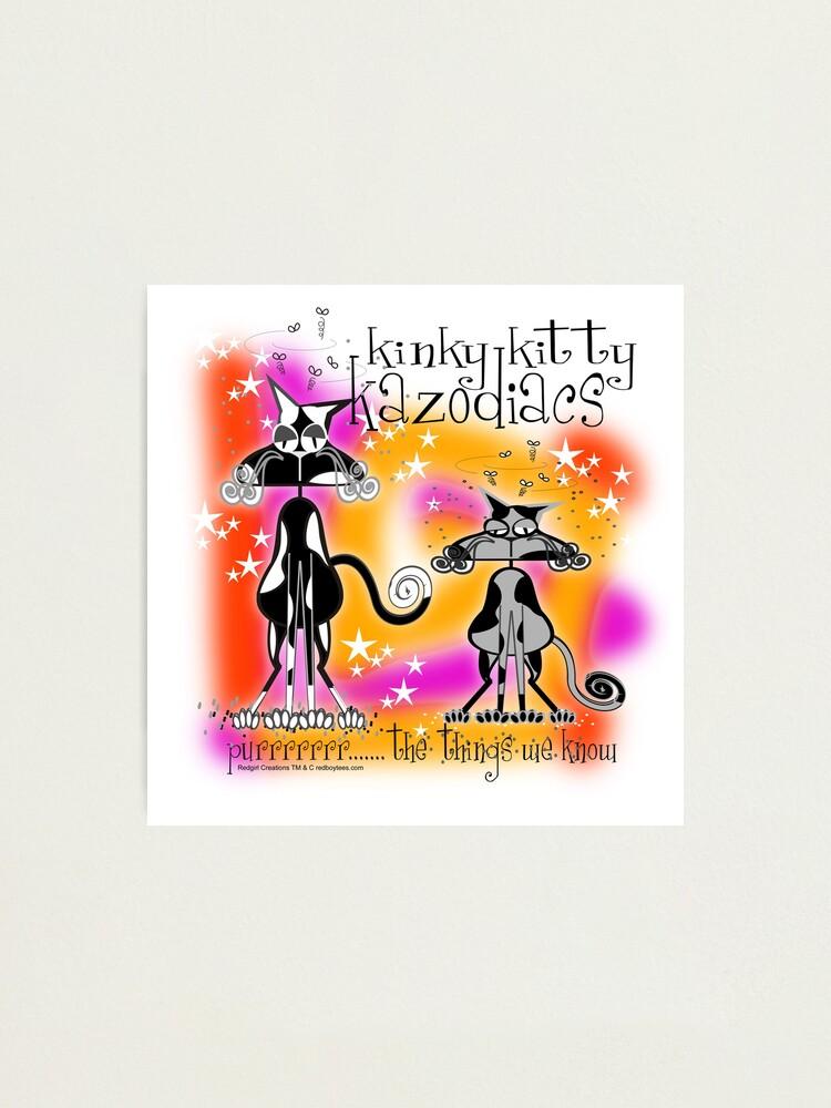 Alternate view of KINKY KITTY - Kinky Astrology Photographic Print