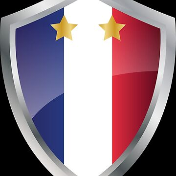 France flag coat of arms by MacOne