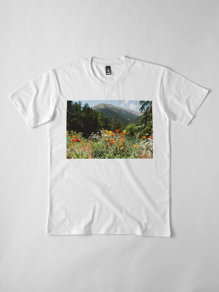 Alternate view of Mountain garden Premium T-Shirt