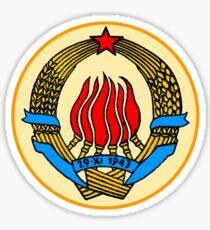 COAT OF ARMS  YUGOSLAVIA Sticker