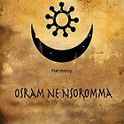 Osram Ne Nsoromma Adinkra Symbol by GrimalkinStudio