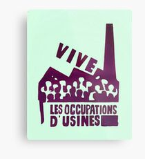 mai68-revolution-live-factory occupations Metal Print