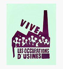 mai68-revolution-live-factory occupations Photographic Print