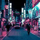 Shimmering Neon Lights of Tokyo by HimanshiShah