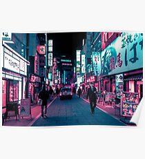 Schimmernde Neonlichter von Tokio Poster