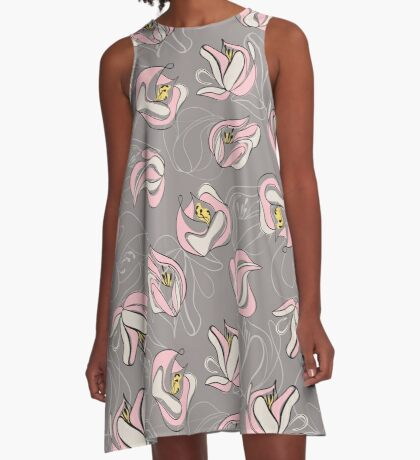 Abstract Floral A-Line Dress