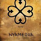 Nyame Dua Adinkra Symbol by GrimalkinStudio