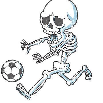 Skeleton Soccer Halloween by frittata