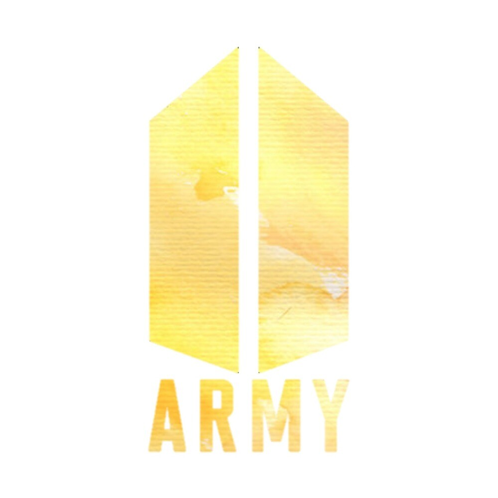 Yellow bts army logo sticker