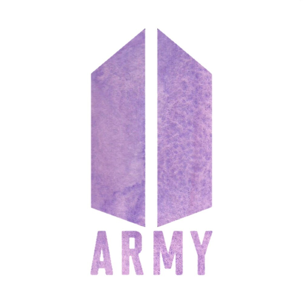 Purple bts army logo sticker