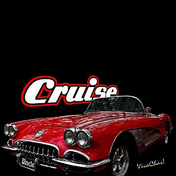 60 Corvette Cruise T-Shirt by ChasSinklier