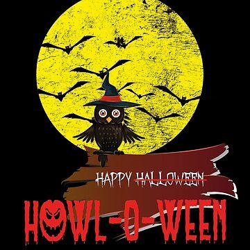 Happy Howl-o-ween halloween owl by Dubbra