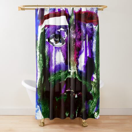 BAANTAL / Hominis / Faces #1 Shower Curtain