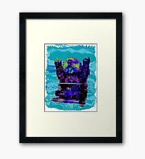 PSYCHEDLIC SEA OTTER Framed Print