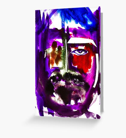 BAANTAL / Hominis / Faces #3 Greeting Card