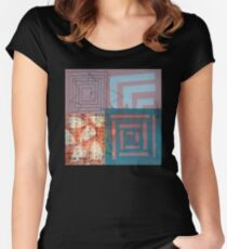 Star Smiling While Walking the Labyrinth Women's Fitted Scoop T-Shirt