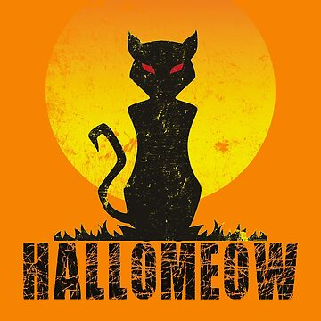 Halloween Hello Meow - Cat Halloween by Dubbra