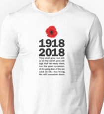 World War 1 Centenary  Unisex T-Shirt
