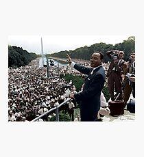 Lámina fotográfica Marcha de MLK en Washington, 27 de agosto de 1963