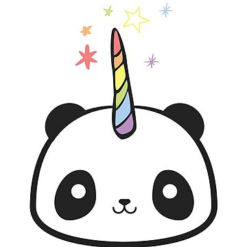 The Original Pandacorn Kawaii Cute Magical Rainbow Unicorn Panda Graphic by DesIndie