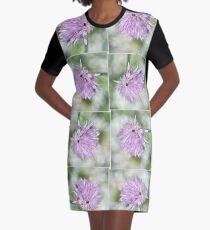 Delicate Summer Flower Graphic T-Shirt Dress