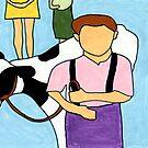 Boy with cow by David Kilpatrick