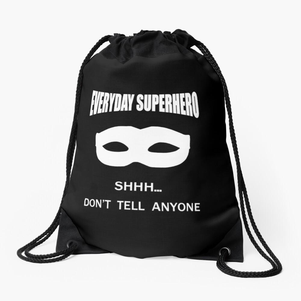 Everyday Superhero - Dark Drawstring Bag