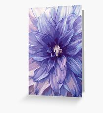 Dahlia blue Greeting Card