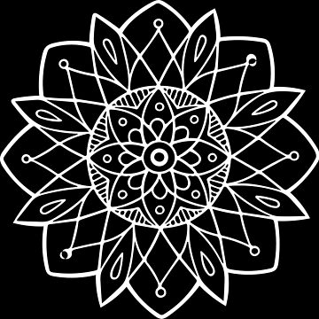 Mandala in White by LoraMaze