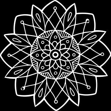 Mandala in White by LoraMaze