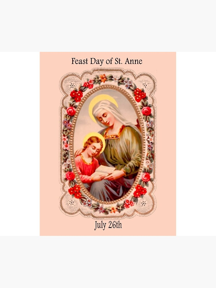 Good St. Anne Feast Day July 26th by CatholiCARDS