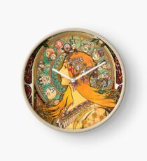 HD. Zodiac (Second version), by Alphonse Mucha (1896) HIGH DEFINITION  Clock