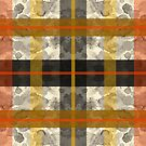 Autumn Ink Spatter Plaid by Evvie Marin