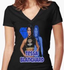 tessa  blanchard Women's Fitted V-Neck T-Shirt