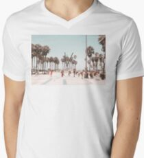 Venice Beach Boardwalk Men's V-Neck T-Shirt