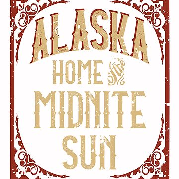 Alaska Wilderness Midnite Sun by AhuvaR