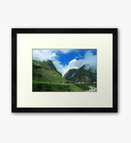 Beauty of Badrinath (Near Mana Village) Framed Print