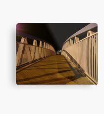 bridge (dusk: receding curves, zigzag shadows) Metal Print