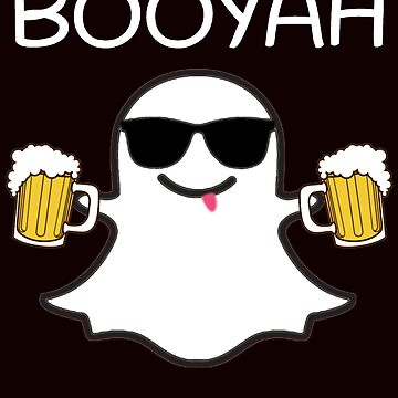 Booyah Funny Ghost With Beer Halloween - Halloween decorations  by mostafahossam
