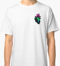 Polysexual Pride Heart (with black detail) Classic T-Shirt