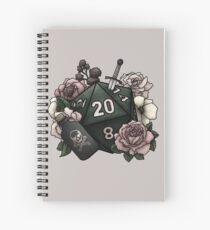 Rogue Class D20 - Tabletop Gaming Dice Spiral Notebook