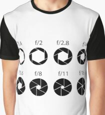 F-stops - Black Graphic T-Shirt