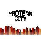 The Protean City Skyline by ProteanMerch