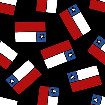 flag of Chile seamless doodle pattern by zizimentos
