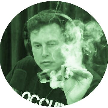 Elon Musk Weed Smoking Cannabis T-Shirts by MrAnthony88
