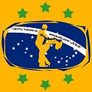 lets dance brazilian zouk flag color design by cglightNing
