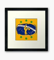 lets dance brazilian zouk flag color design Framed Print