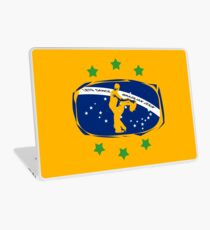 lets dance brazilian zouk flag color design Laptop Skin